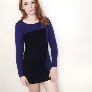 Milly Merino Wool Color-block Sweater Dress